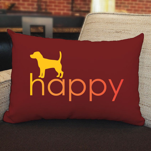 Righteous Hound - Happy Beagle Pillow