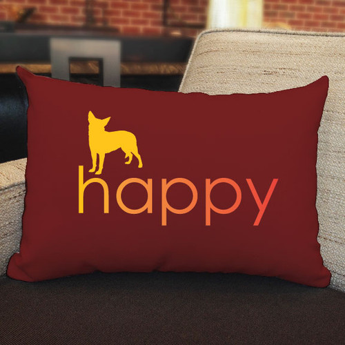 Righteous Hound - Happy Chihuahua Pillow