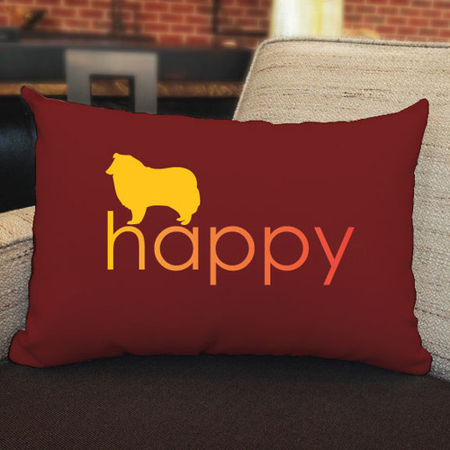 Righteous Hound - Happy Collie Pillow