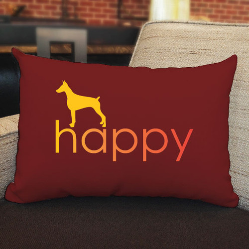 Righteous Hound - Happy Doberman Pillow