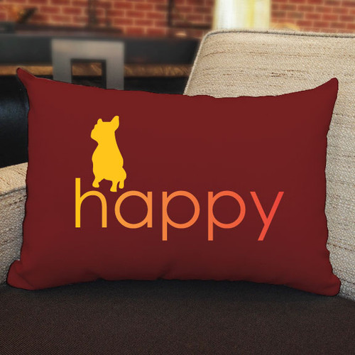 Righteous Hound - Happy French Bulldog Pillow