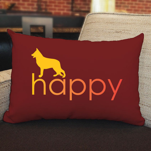 Righteous Hound - Happy German Shepherd Pillow