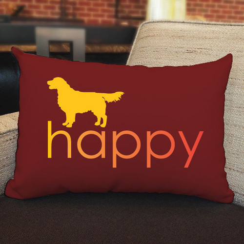 Righteous Hound - Happy Golden Retriever Pillow