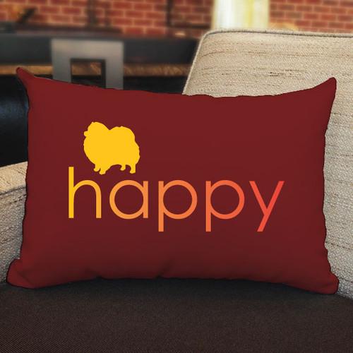 Righteous Hound - Happy Pomeranian Pillow