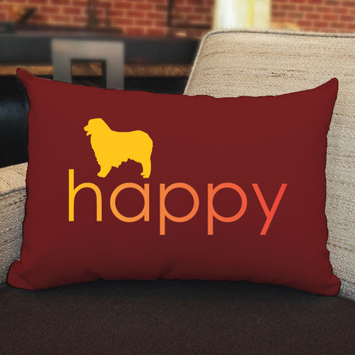 Righteous Hound - Happy Australian Shepherd Pillow