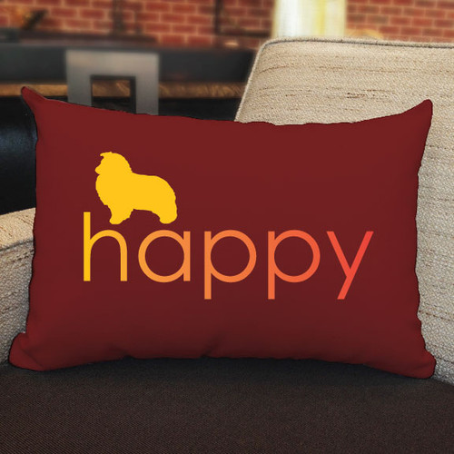 Righteous Hound - Happy Shetland Sheepdog Pillow