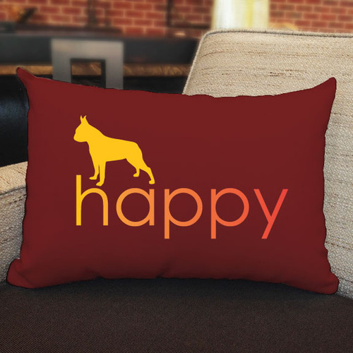 Righteous Hound - Happy Boston Terrier Pillow