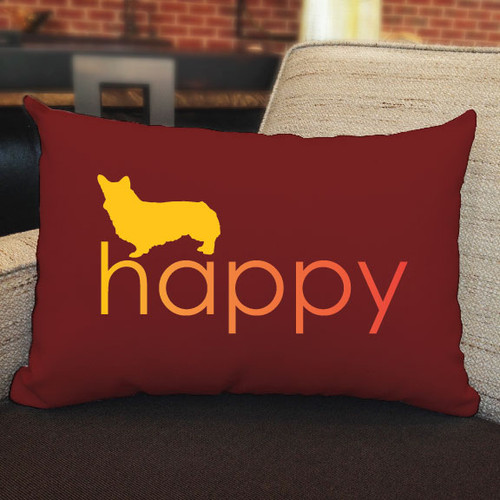 Righteous Hound - Happy Corgi Pillow