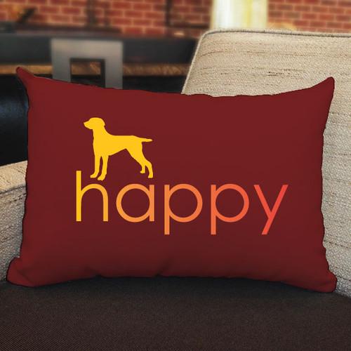 Righteous Hound - Happy Weimaraner Pillow