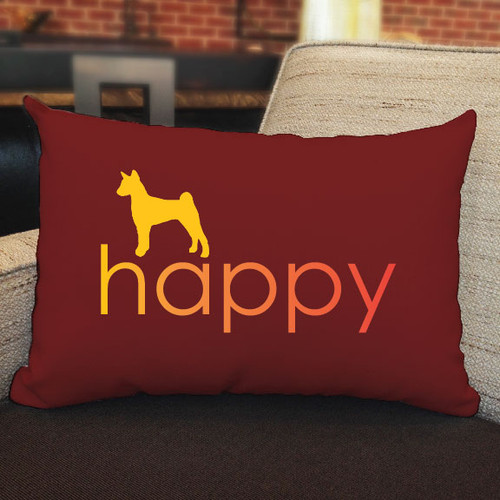 Righteous Hound - Happy Basenji Pillow