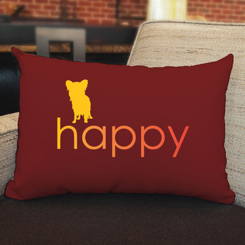 Righteous Hound - Happy Papillon Pillow