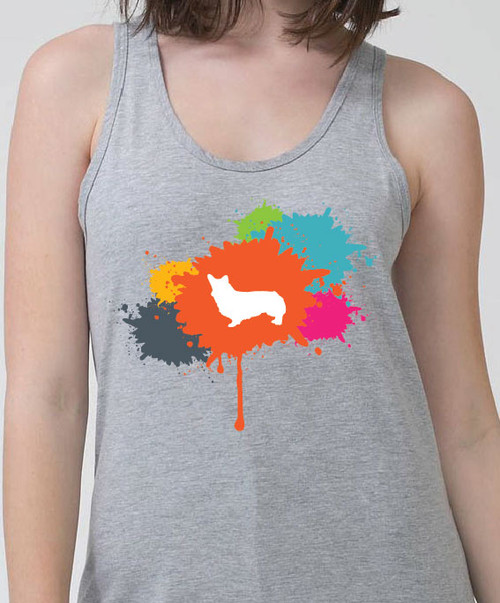 Righteous Hound - Unisex Splatter Corgi Tank