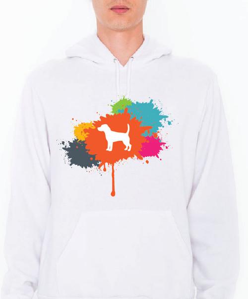Unisex Splatter Beagle Hoodie