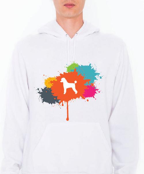 Unisex Splatter Poodle Hoodie