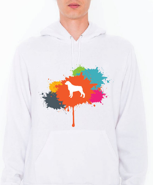 Unisex Splatter Rottweiler Hoodie