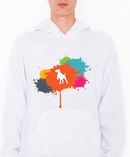Unisex Splatter German Shorthaired Pointer Hoodie