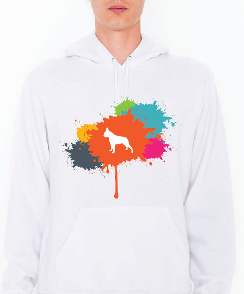 Unisex Splatter Boston Terrier Hoodie