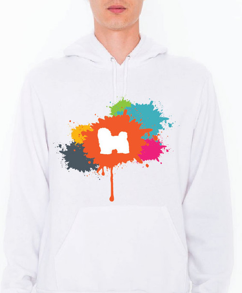 Unisex Splatter Havanese Hoodie
