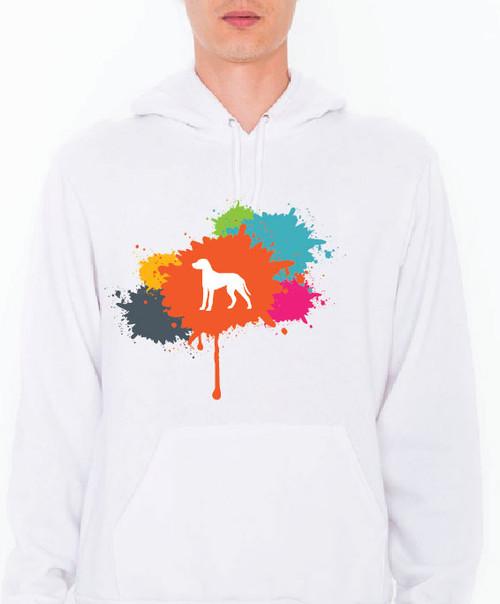 Unisex Splatter Dalmatian Hoodie