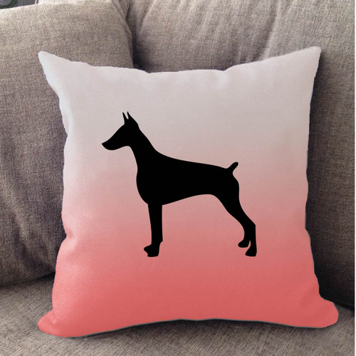 Righteous Hound - White Ombre Doberman Pillow