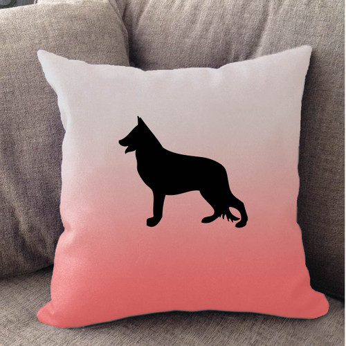 Righteous Hound - White Ombre German Shepherd Pillow