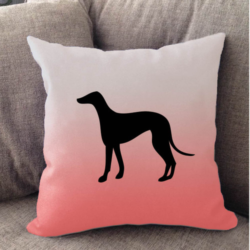 Righteous Hound - White Ombre Greyhound Pillow