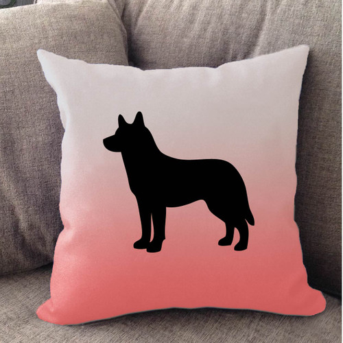 Righteous Hound - White Ombre Husky Pillow