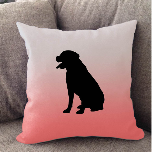 Righteous Hound - White Ombre Rottweiler Pillow
