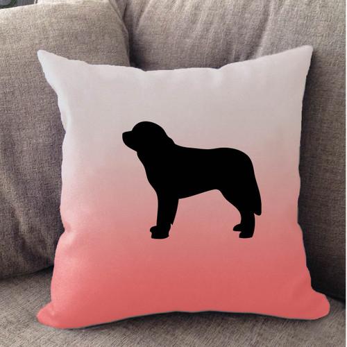 Righteous Hound - White Ombre Saint Bernard Pillow