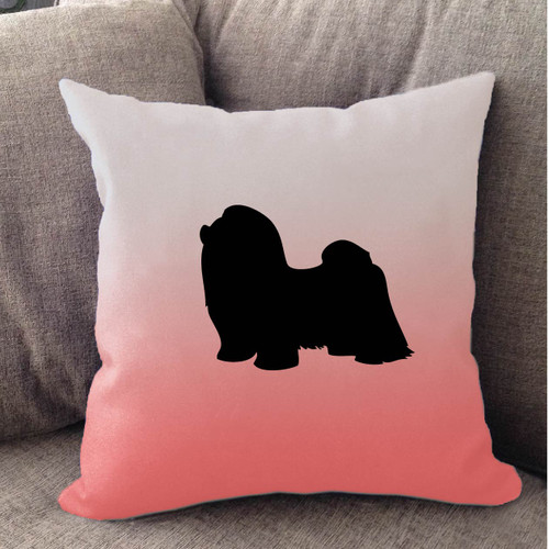Righteous Hound - White Ombre Shih Tzu Pillow