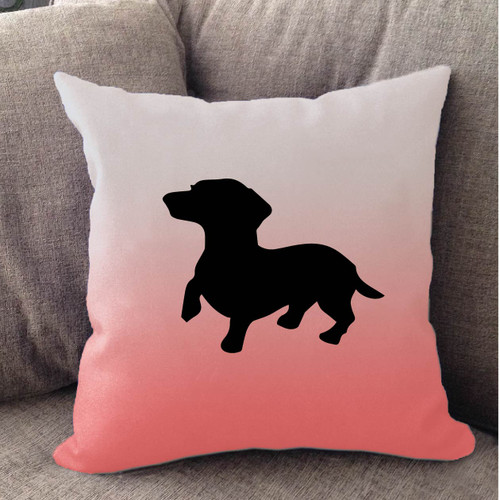 Righteous Hound - White Ombre Dachshund Pillow