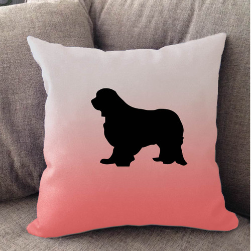 Righteous Hound - White Ombre Cavalier King Charles Spaniel Pillow