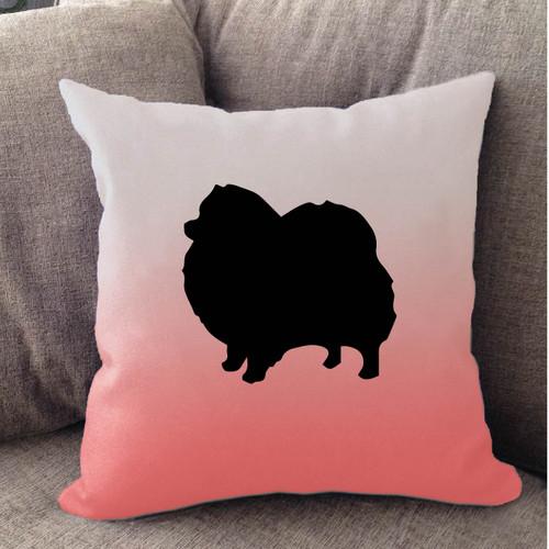 Righteous Hound - White Ombre Pomeranian Pillow