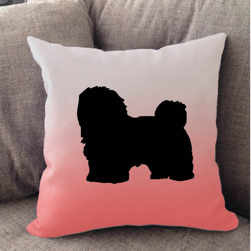 Righteous Hound - White Ombre Havanese Pillow