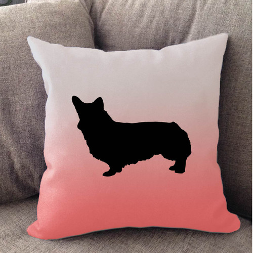 Righteous Hound - White Ombre Corgi Pillow