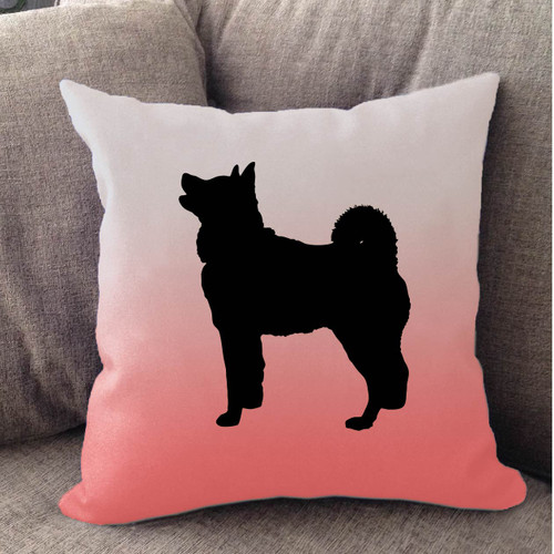 Righteous Hound - White Ombre Akita Pillow