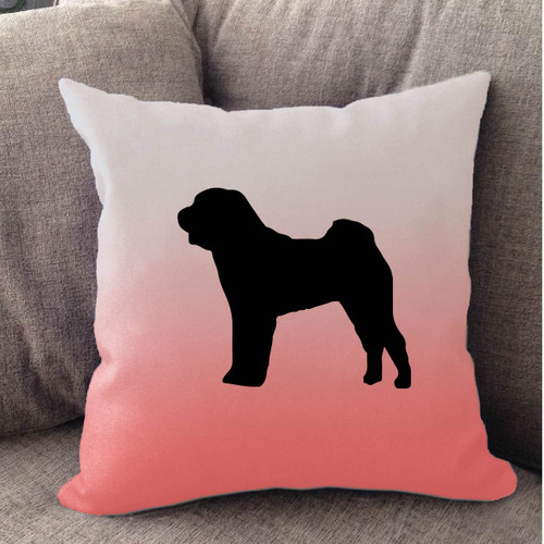 Righteous Hound - White Ombre Shar-Pei Pillow