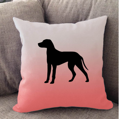 Righteous Hound - White Ombre Dalmatian Pillow