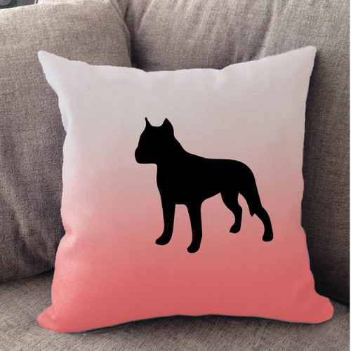 Righteous Hound - White Ombre Staffordshire Terrier Pillow