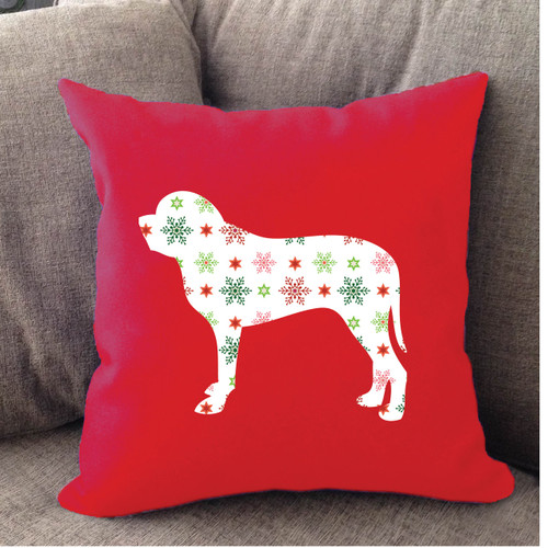 Righteous Hound - Red Holiday Mastiff Pillow