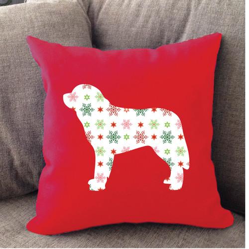 Righteous Hound - Red Holiday Saint Bernard Pillow