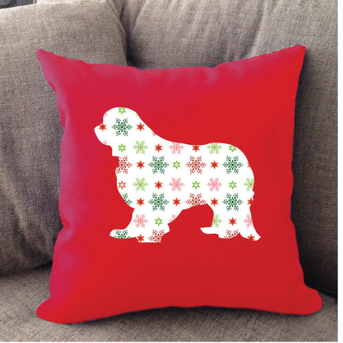 Righteous Hound - Red Holiday Cavalier King Charles Spaniel Pillow