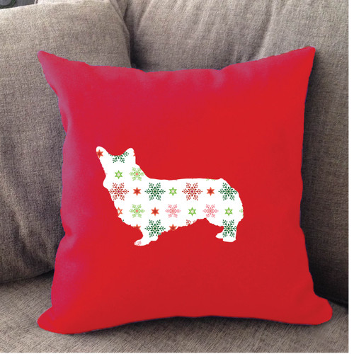 Righteous Hound - Red Holiday Corgi Pillow