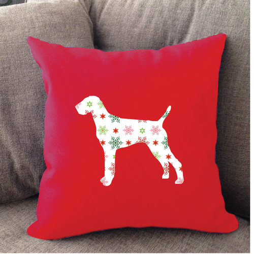 Righteous Hound - Red Holiday Vizsla Pillow