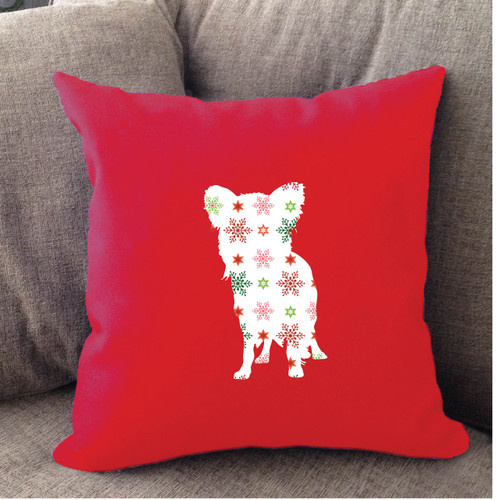 Righteous Hound - Red Holiday Papillon Pillow