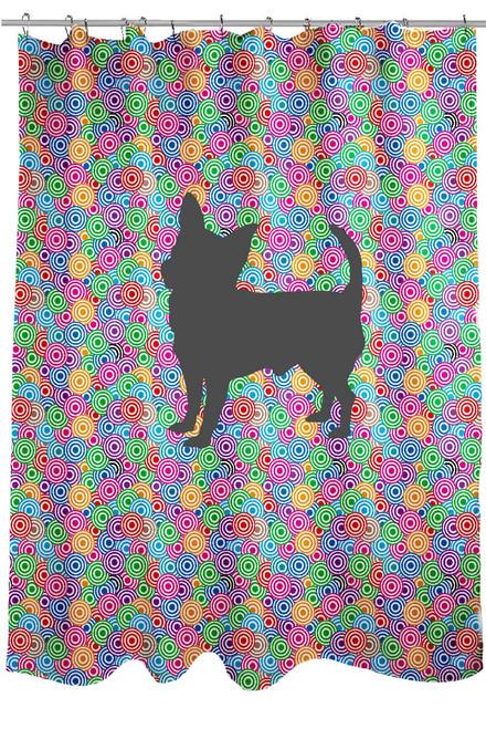 Righteous Hound - Circle Chihuahua Shower Curtain