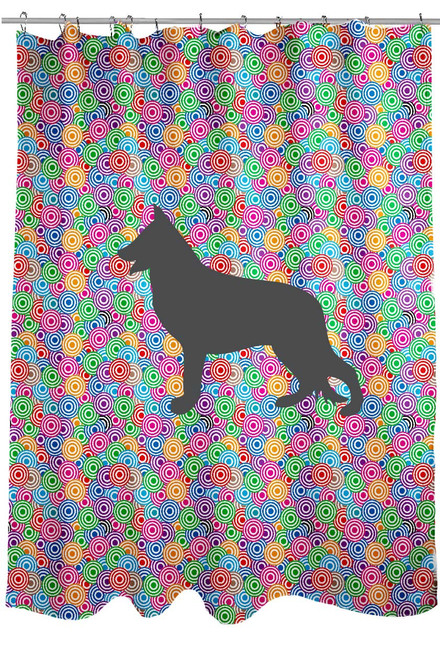 Circle German Shepherd Shower Curtain