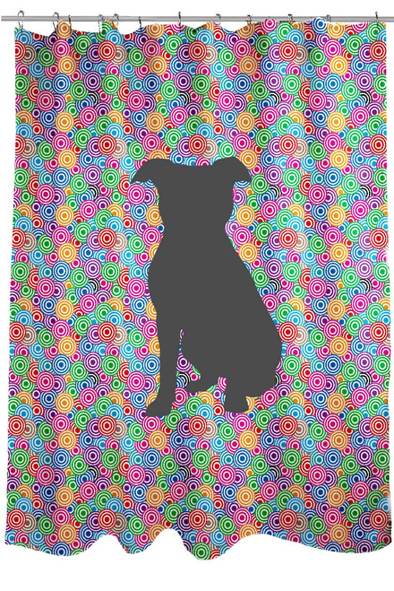 Righteous Hound - Circle Pitbull Shower Curtain