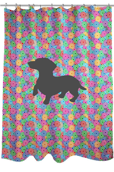 Righteous Hound - Circle Dachshund Shower Curtain