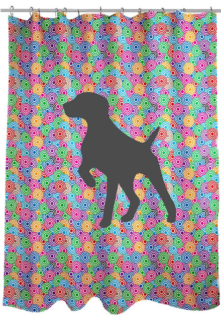 Righteous Hound - Circle German Shorthaired Pointer Shower Curtain